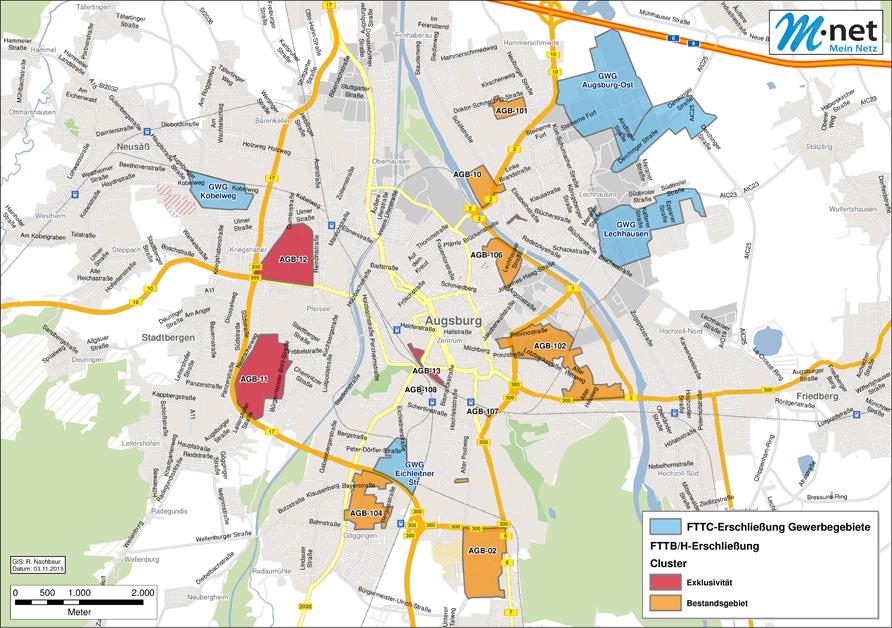 Glasfasernetz in Augsburger Gewerbegebieten geht in Betrieb