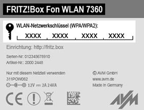Unterseite der FRITZ!Box