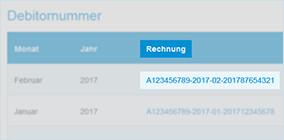 Download von Rechnungen und Einzelverbindungsnachweisen