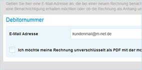 Konfiguration für den Rechnungsversand per E-Mail