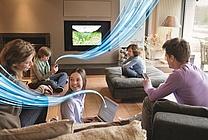 Familie im Wohnzimmer (jpeg, 300 dpi, 2 MB)