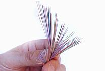 Glasfaserkabel: Strang mit 144 einzelnen Glasfasern (jpeg, 300 dpi, 700 KB)