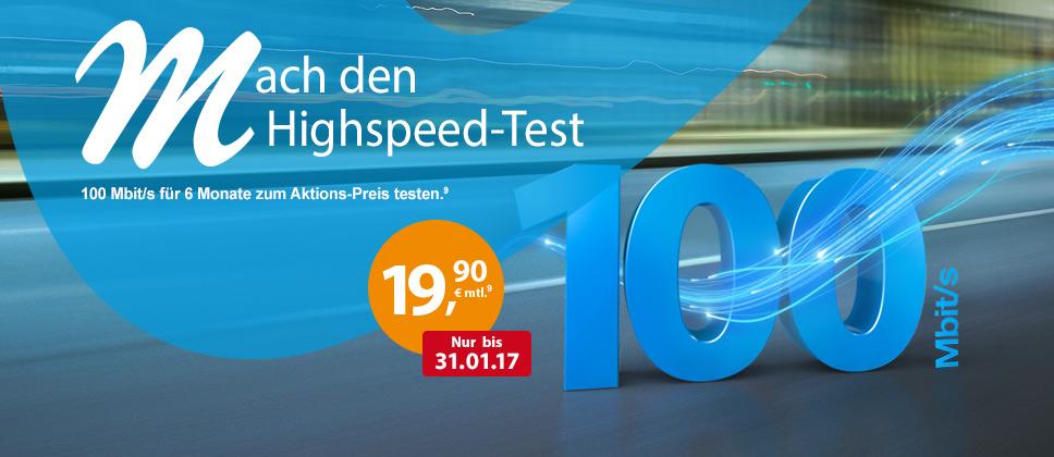 Mach den Highspeed-Test