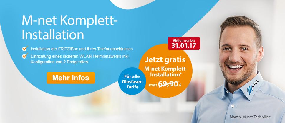M-net Komplett-Installation