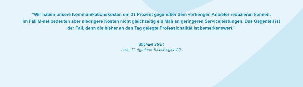 M-net Kunde Agraferm Technologies AG