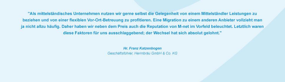 M-net Kunde Herrnbräu GmbH & Co. KG