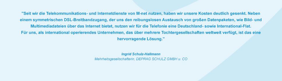 M-net Kunde DEPRAG Schulz GmbH und Co.