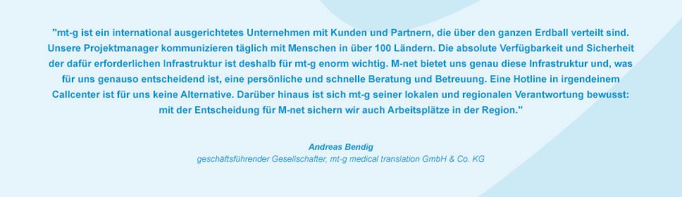 M-net Kunde m-tg medicaltranslation GmbH & Co. KG