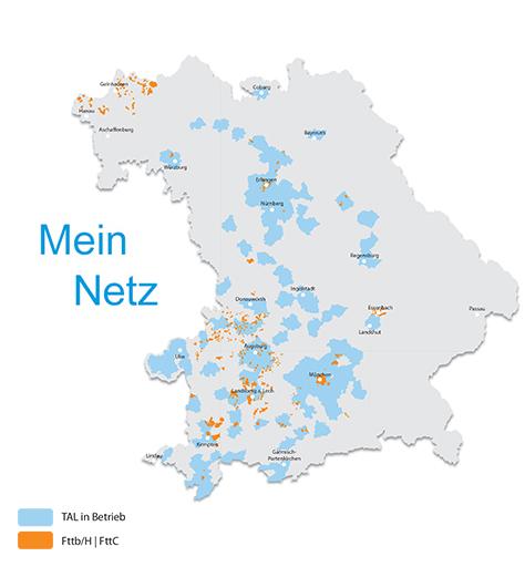 M-net Glasfaser Kommunalgebiete