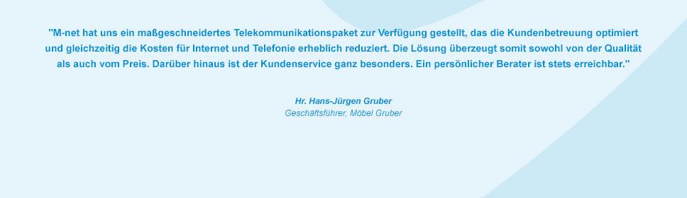 M-net Kunde Möbel Gruber