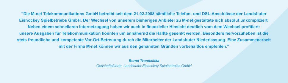 M-net Kunde Landshuter Eishockey Spielbetriebs GmbH