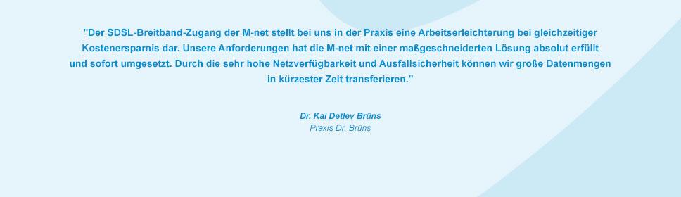 M-net Kunde Praxis Dr. Brüns